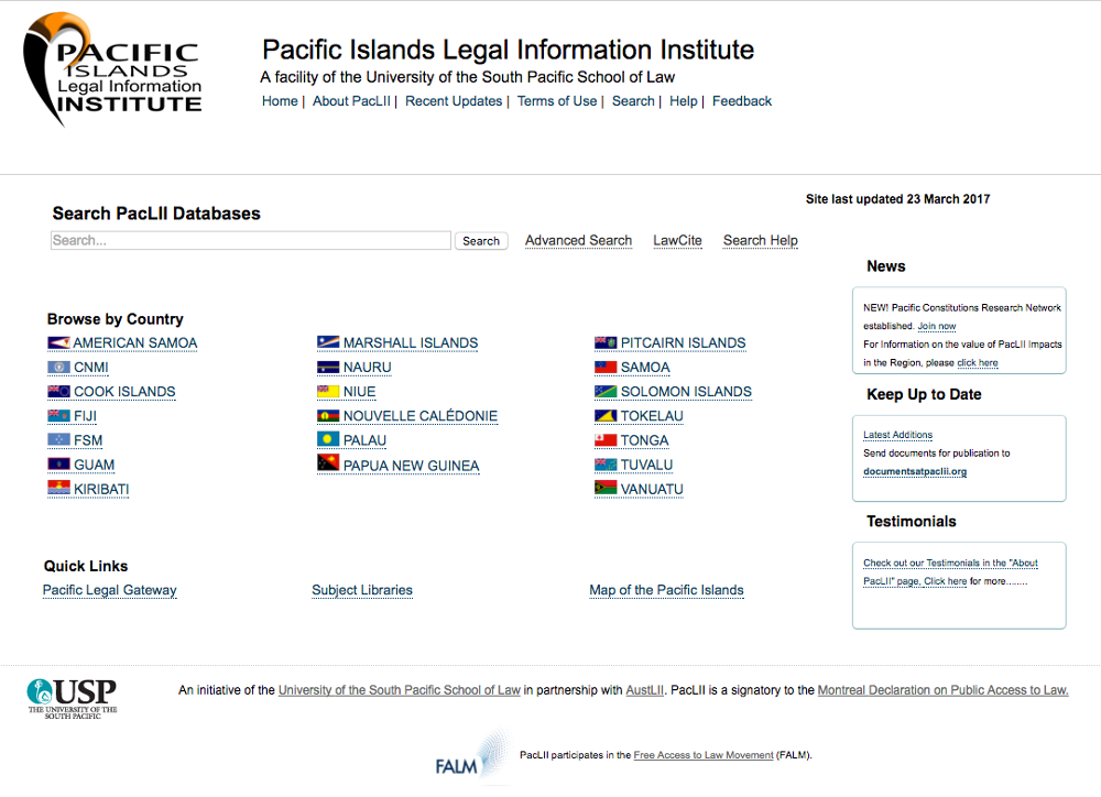 Pacific Institute of Legal Information Datacenter Consultancy and Support